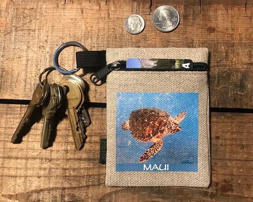 Sea Turtle Hemp Key Coin Purse Pouch