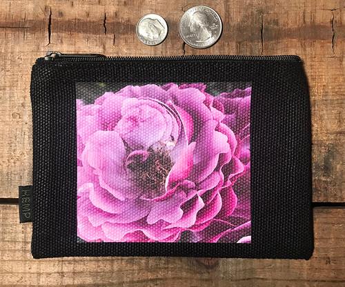 Mauve Rose Medium & Large Hemp Coin Purse Pouch