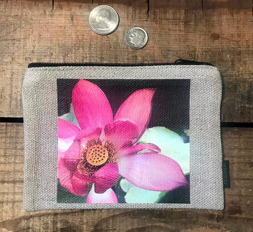 Lotus Medium & Large Hemp Coin Purse Pouch