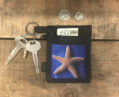 Starfish Hemp Key Coin Purse