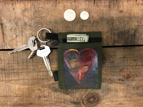 Healing Heart Hemp Key Coin Purse