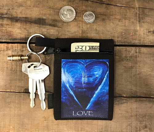 Blue Heart in Tahoe LOVE Hemp Key Coin Purse