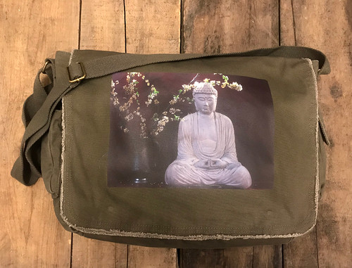 Buddha & Blossoms Messenger Bag