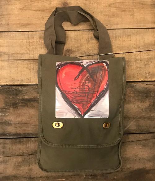 Falling into Ecstasy Heart Field/Messenger Bag