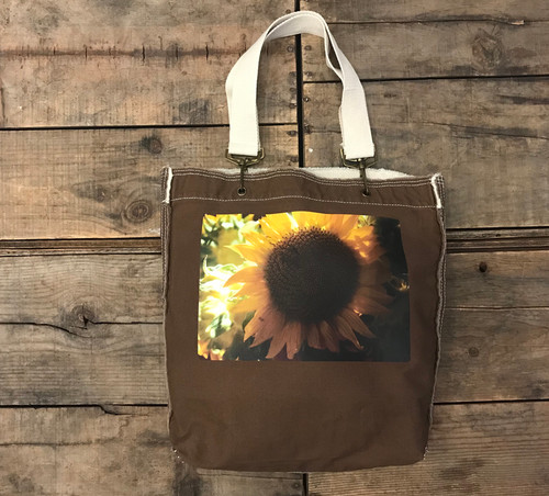 Sunflower Cotton Girly Tote/Purse