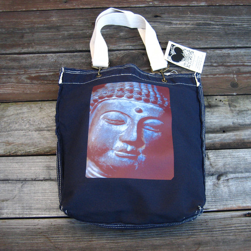 Buddha's Face Cotton Girly Tote/Purse