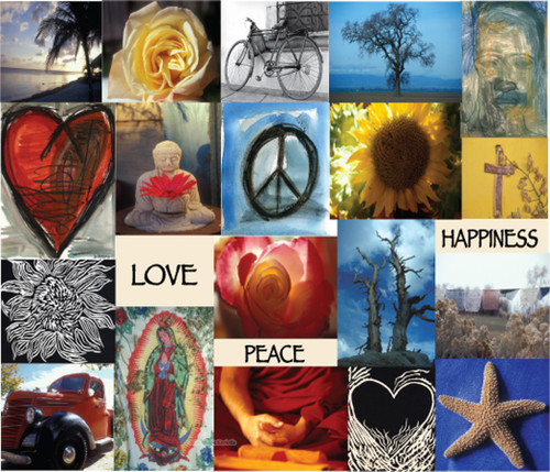 Love Peace & Happiness Greeting Card