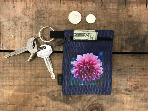 Amanda's Dahlia Hemp Key Coin Purse