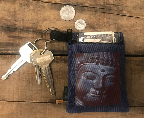 Buddha's Face Hemp Key Coin Purse/Pouch