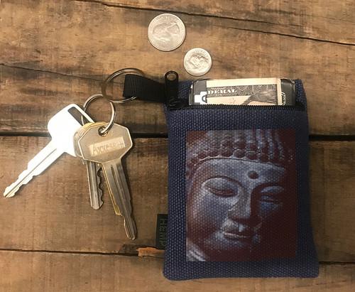 Buddha's Face Hemp Key Coin Purse/Pouch
