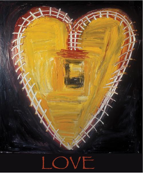Love Supreme Heart Greeting Card