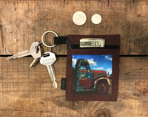 Truck in Taos Hemp Key Coin Purse/Pouch