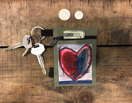 Cosmic interlude of Love  Hemp Key Coin Purse