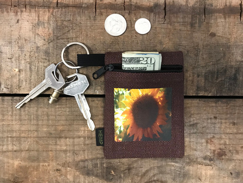 Sunflower Hemp Key Coin Purse