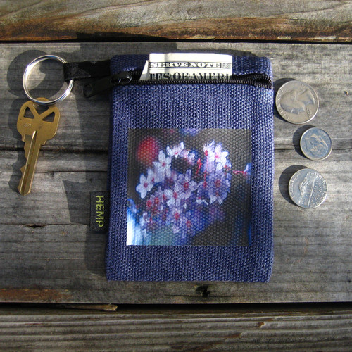 Blossoms Hemp Key Coin Purse