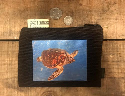 Sea Turtle Medium & Large Hemp Coin Purse