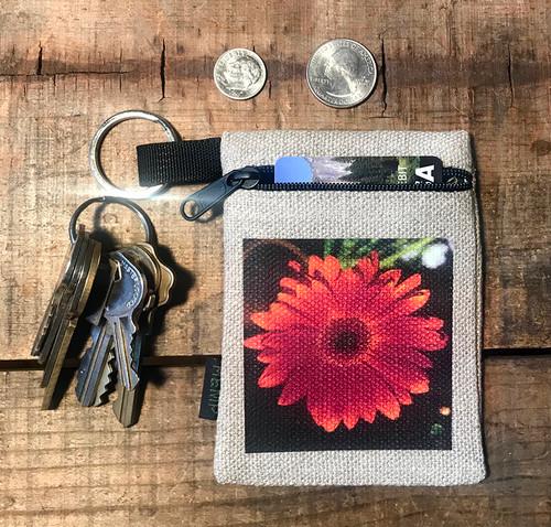 Gerber Daisy Hemp Key Coin Purse/Pouch