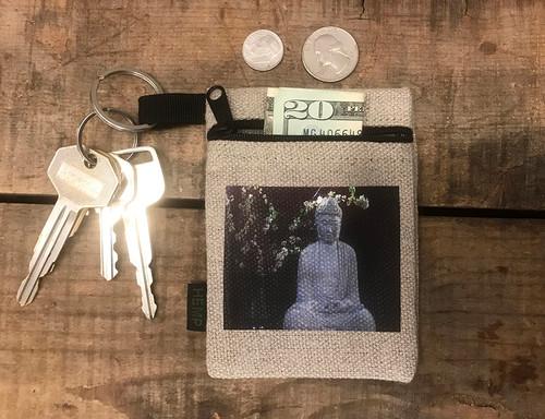 Buddha & Blossoms Hemp Key Coin Purse/Pouch