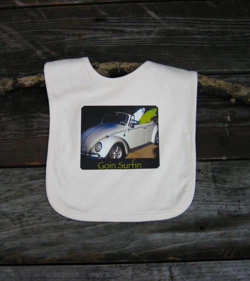 Goin Surfin Certified Organic Cotton Baby Bib