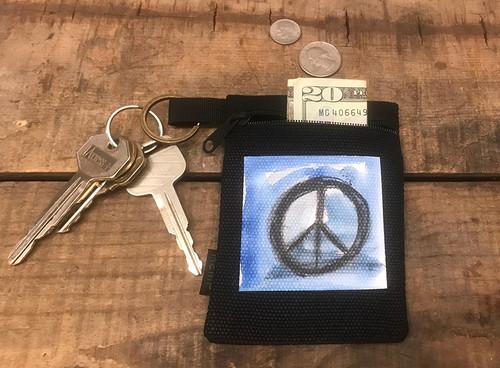 Peace Sign Hemp Key Coin Purse/Pouch