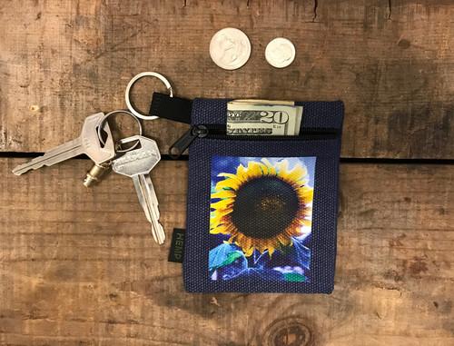 Majestic Sunflower Hemp Key Coin Purse/Pouch