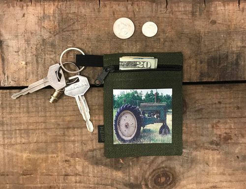 Tractor Hemp Key Coin Purse