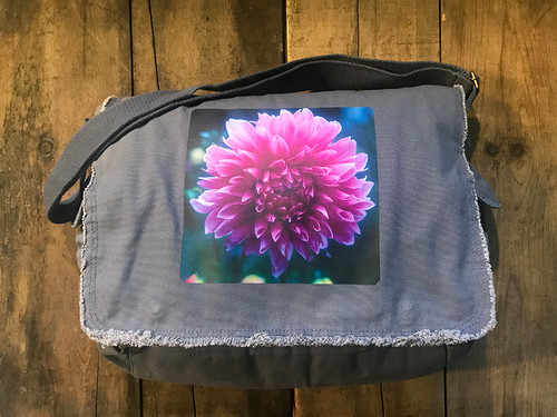Amanda's Dahlia Cotton Messenger Bag