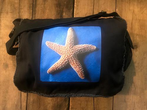 Starfish Cotton Canvas Messenger Bag