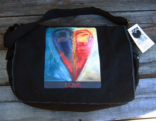 Night and Day Heart messenger bag