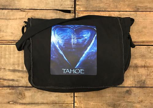 Blue Heart in Tahoe Messenger Bag
