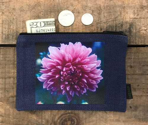 Amanda's Dahlia Medium & Large Hemp  Coin Purse
