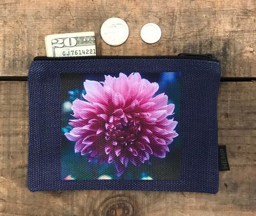 Amanda's Dahlia Medium & Large Hemp  Coin Purse