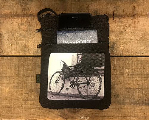 Bike Hemp 3 Zip Bag/Purse
