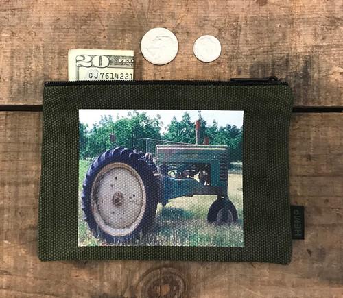 Tractor Medium & Large Hemp Coin Purse