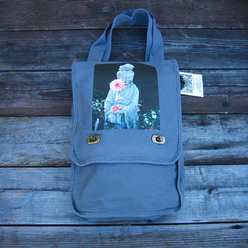 Quan Yin (Goddess of Compassion) Cotton Canvas Field/Messenger Bag