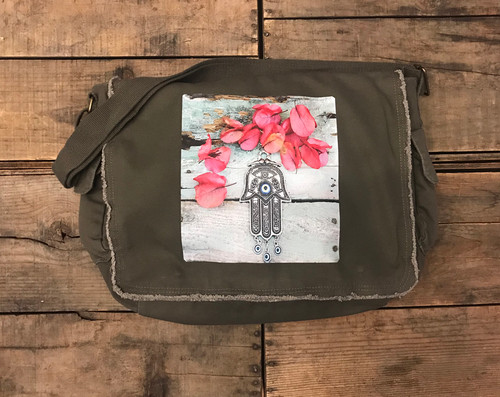 Hamsa (Hand of Protection) Messenger Bag