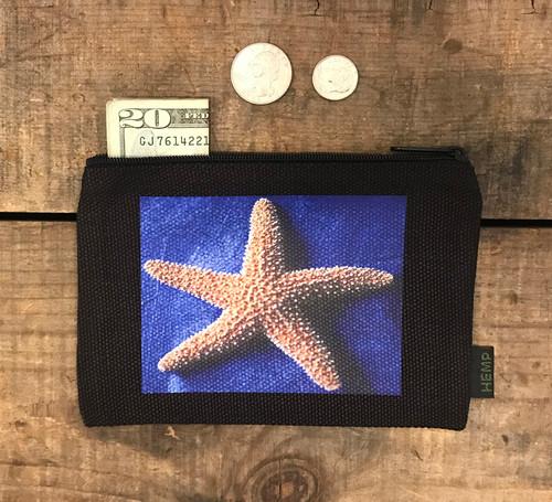 Starfish Medium & Large Hemp Coin Purse