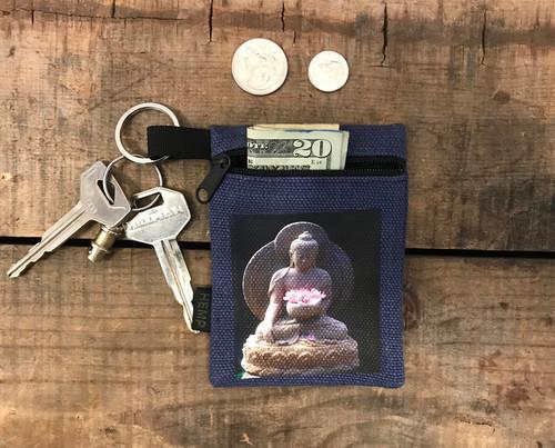 Buddha Shakyamuni Hemp Key coin Purse