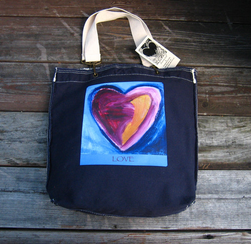 Besitos Dulces Heart (sweet kisses) LOVE Cotton Girly Tote/Purse