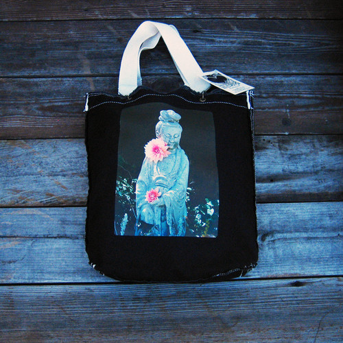 Quan Yin (Goddess of Compassion) Cotton Girly Tote/Purse