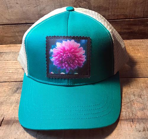 Amanda's Dahlia Keep on Truckin' Organic Cotton Trucker Hat