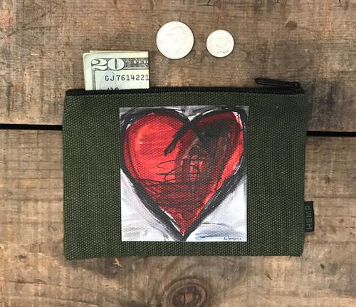 Falling into Ecstasy Heart Medium & Large Hemp Coin Purse
