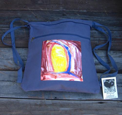Adobe Sunrise Boho Cotton Canvas Cinch Backpack