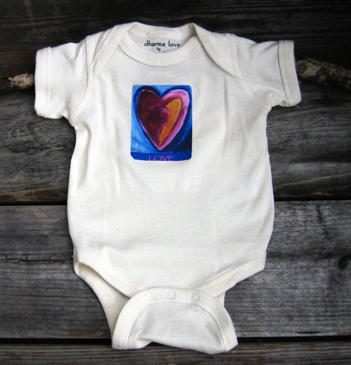 Besitos Dulces Heart (sweet kisses) Organic Cotton Onesie