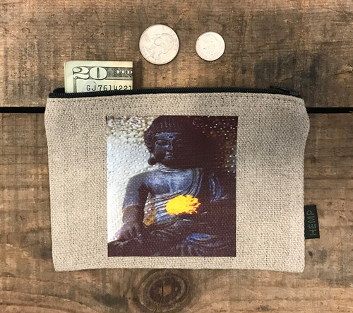 Earth Witness Buddha Medium & Large Hemp Coin Purse