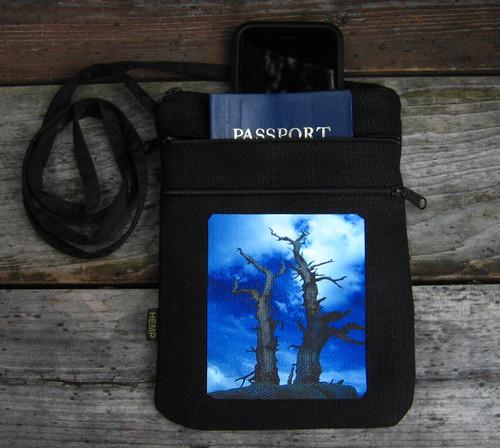 Snags above Tahoe Hemp 3 Zip Cross Body Bag/Purse