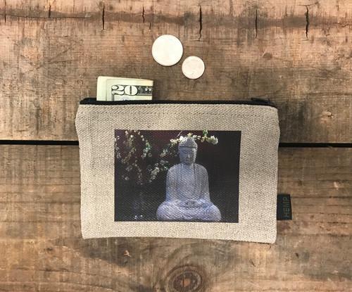 Buddha & Blossoms  Medium & Large Hemp Coin Purse
