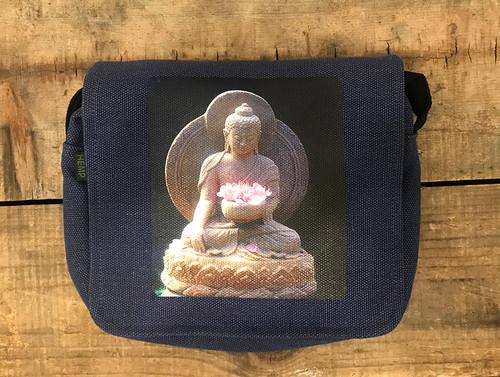 Buddha Shakyamuni Hemp Small & Large City Slicker  Purse