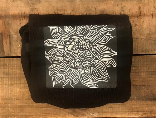 Black Sunflower Small & Large City Slicker Hemp purse