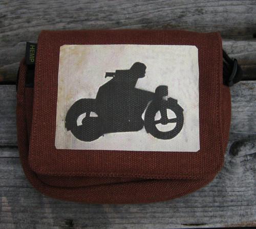 Motorcycle Symbol Small & Large City Slicker Hemp Purse